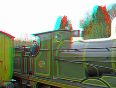 Steam Locomotive No.592 at Kingscote Station in 3D