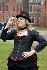 Steampunk author Anna-Marie York at Conbust