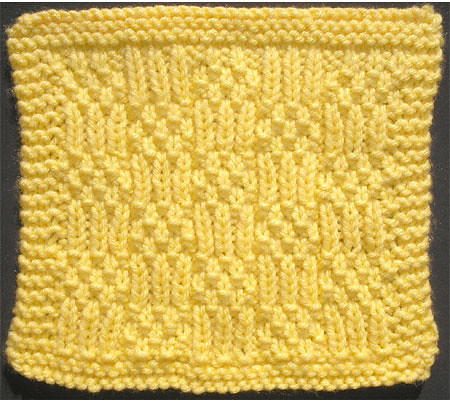 Moss and Rib Block Stitch, Version II, RS