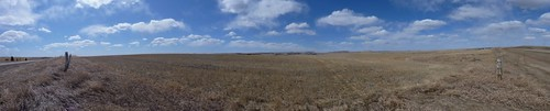 2010-04-10 road south of Drumheller pano