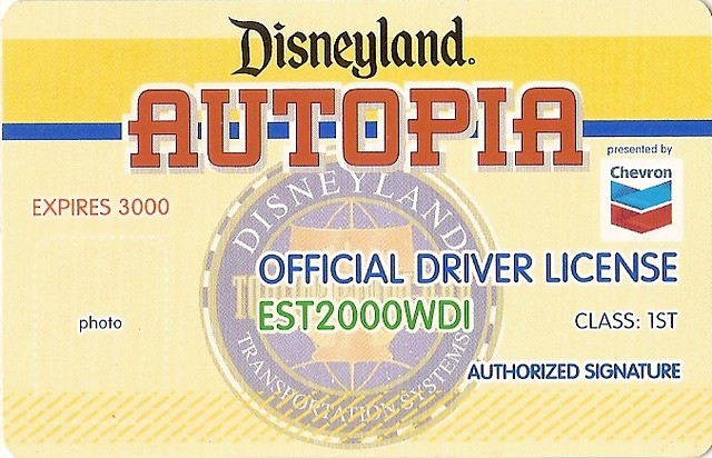 Disneyland Autopia Driver license | Joel | Flickr