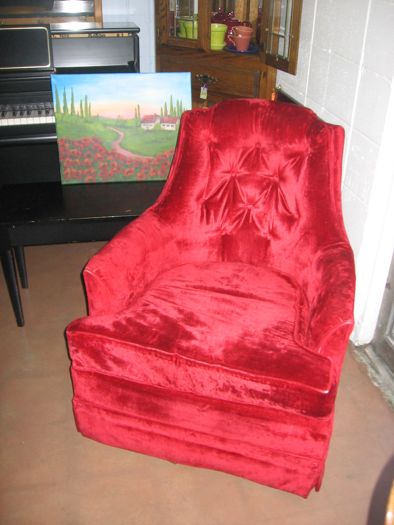 Sold Red Swivel Rocker See Our Ads On Craigslist
