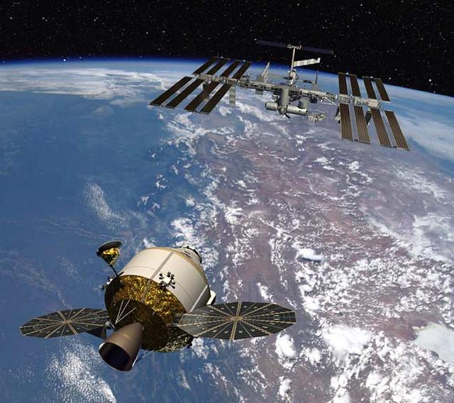 Orión y la ISS