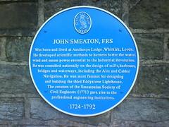 Photo of John Smeaton blue plaque