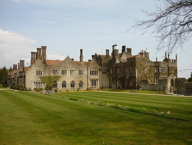 Eastwell Manor and the 14th century church ruins, Ashford, Kent, England