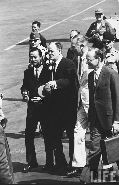 U.S. Vice President Hubert Humphrey visits Vietnam - 1966