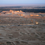 Sunset over Palmyra from the Qala