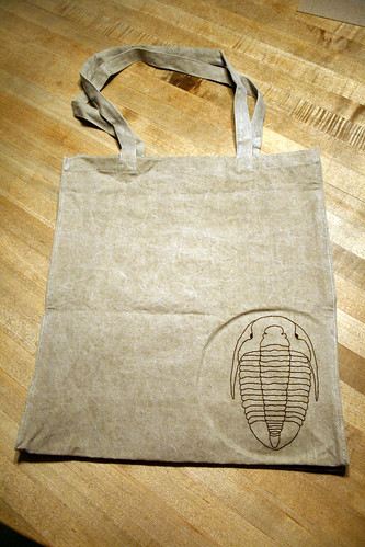 Trilobite tote bag for Fran.