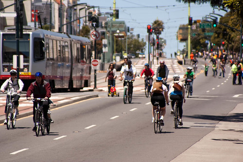 11534 View back up 3rd St. from SFBC tent | by sfbike
