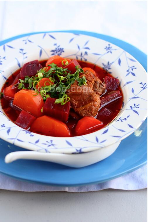 Vietnamese style beet soup