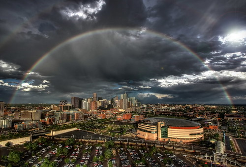 Denver Skyline Double Rainbow