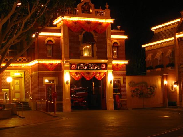 Main Street at Night - Disneyland