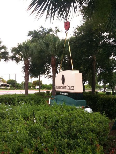 Palm Beach State College Sign Installation Flickr