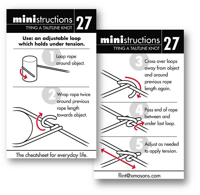 flickr photos tagged cheatsheet picssrrelevant \u2022 interesting · tying a tautline knot