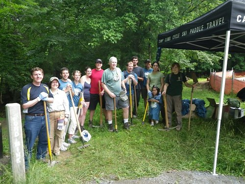 Trail supervisors and volunteers on National Trails Day event