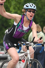 Vicky, the Most Enthusiastic TNTer @ Elkhart Lake Triathlon 2010