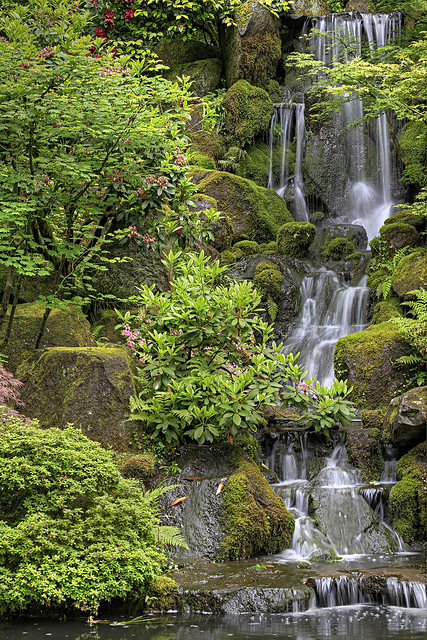 The waterfall at portland japanese garden hdr please cli flickr photo sharing for Japanese garden portland oregon