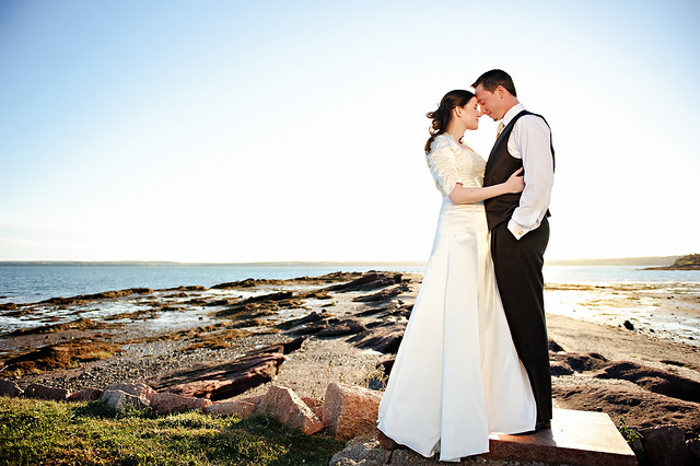 coastal wedding picture
