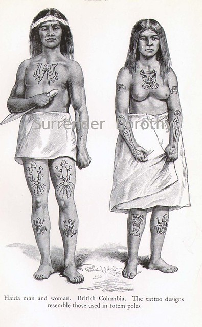Haida Man and Woman Native People Photogravure