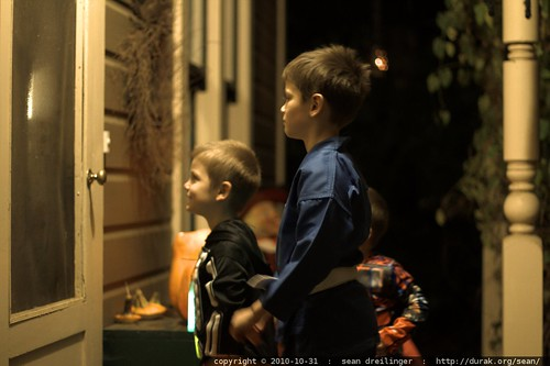 """waiting to say """"trick or treat"""""""