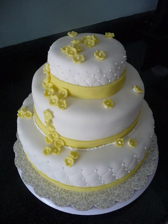 80th Birthday Cake With Yellow Flowers A Cocoa Cakery