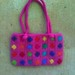Felted (fulled) crocheted purse
