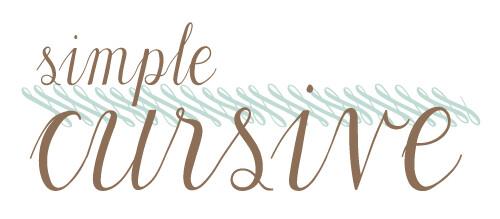 simple-cursive-title