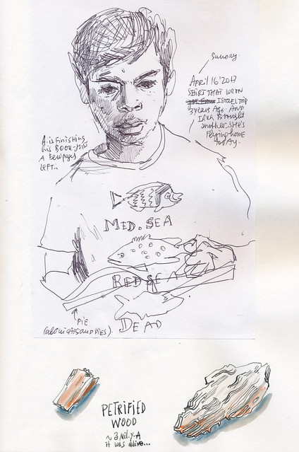 Sketchbook #104: Reading and Talking Time