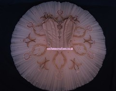 Neutral /Peach Tutu -  pale peach  and cream net. Blush Peach Bodice.