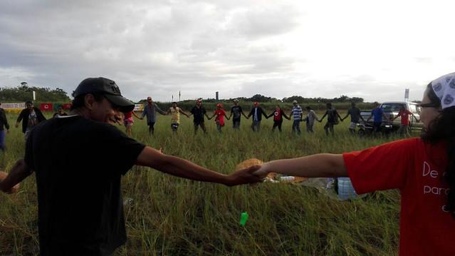 Camponeses comemoram vitória contra empresa Prumo Logística, controlada por capital dos EUA - Créditos: MST