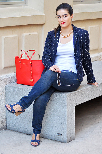 valencia something fashion blogger spain influencer streetstyle michael kors tote bag blazer rayban_0014