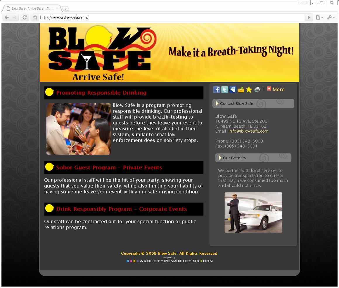 Blow Safe Webpage