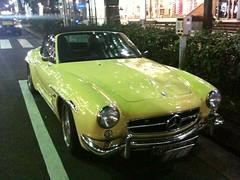 automobile(1.0), automotive exterior(1.0), vehicle(1.0), performance car(1.0), mercedes-benz(1.0), mercedes-benz 190sl(1.0), antique car(1.0), classic car(1.0), land vehicle(1.0), convertible(1.0), sports car(1.0),