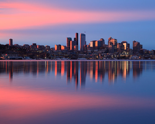 seattle winter lake water colors sunrise canon dawn cityscape gasworks