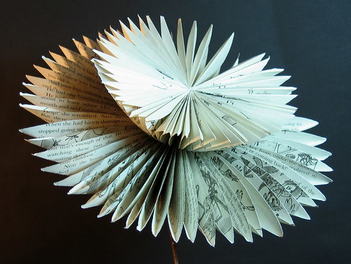 Book Art Flower 1