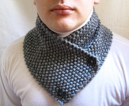 Knitting Pattern For Small Neck Scarf : Hand knitted wool scarf neck warmer scarflette cowl chunky ...