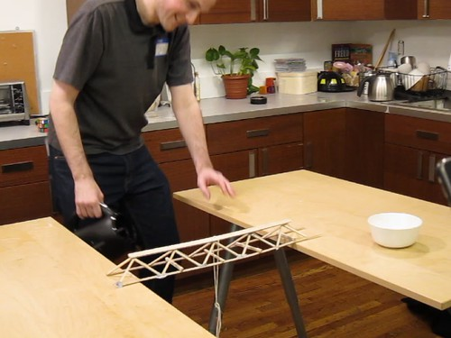 Balsa bridge failure