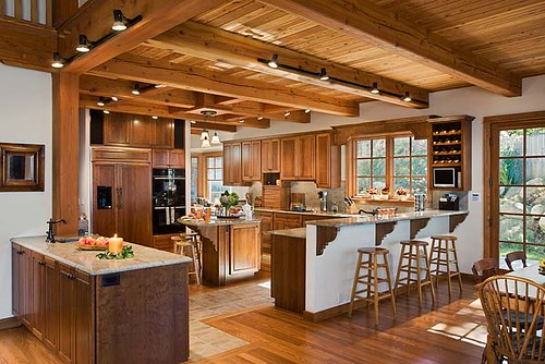 the tuscany iii timber frame home kitchen