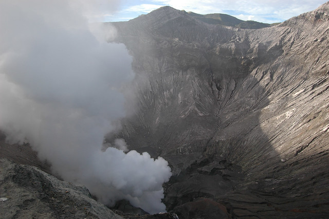 The crater of Mount Bromo