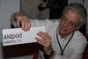 Simon Berry with the Mark II AidPod - Colour