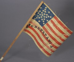 Missouri, New York, Pennsylvania, and West Virginia Flags, ca. 1876 by Cornell University Library