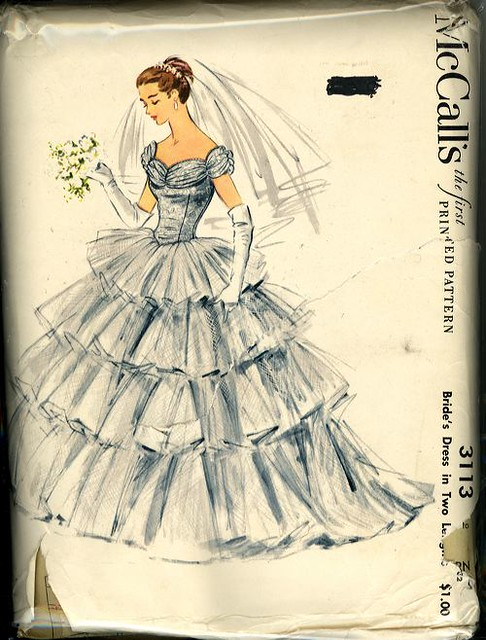 Mccall 39 s wedding dress 3113 flickr photo sharing for Mccall wedding dress patterns