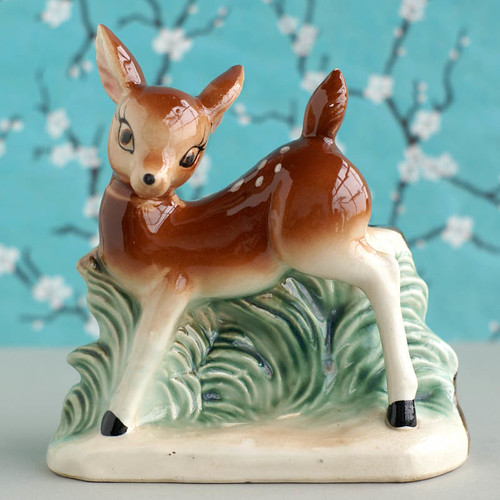 Vintage Deer Planter  by plaidponyvintage