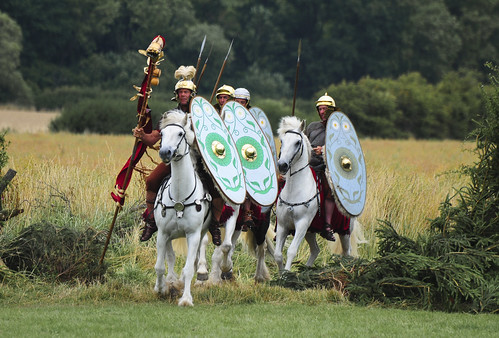 Romans Soldiers, Roman Army Mounted on Horseback, Ermine Street Guard