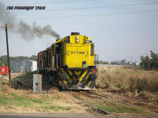ALCO RSD35 6471 cruzando en PAN ruta 33, ramal Rufino - Venado Tuerto