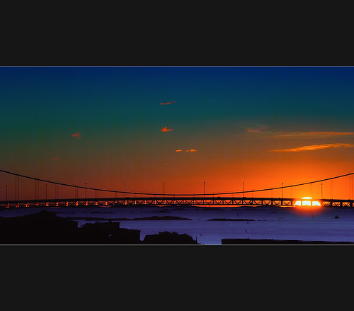 ocean bridge sky sun seascape color colour water night clouds göteborg landscape dawn flickr time dramatic places hanging drama sunsetsunrise