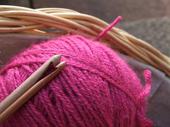 a crochet hook heart