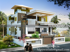 bungalow_www.3dpower.in_3d modeling_3d rendering_india