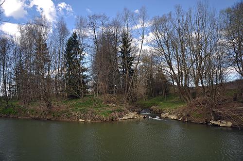 Mündung Grazbach in die Raab (Weinberg an der Raab)