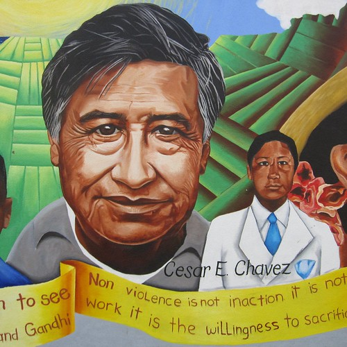 happy Cesar Chavez Day! (Dr. Martin Luther King, Jr. Academic Middle School, Girard between Bacon/Burrows)